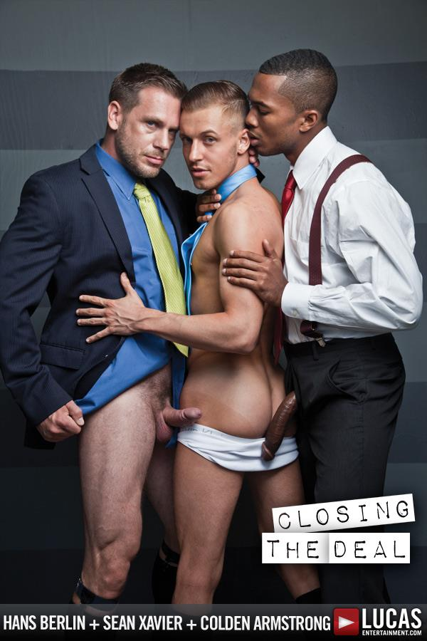 Lucas-Entertainment-Sean-Xavier-and-Hans-Berlin-and-Colden-Armstrong-Interracial-Gay-Orgy-Amateur-Gay-Porn-02 Going For A Job Interview And Taking 2 Huge Cocks Up The Ass