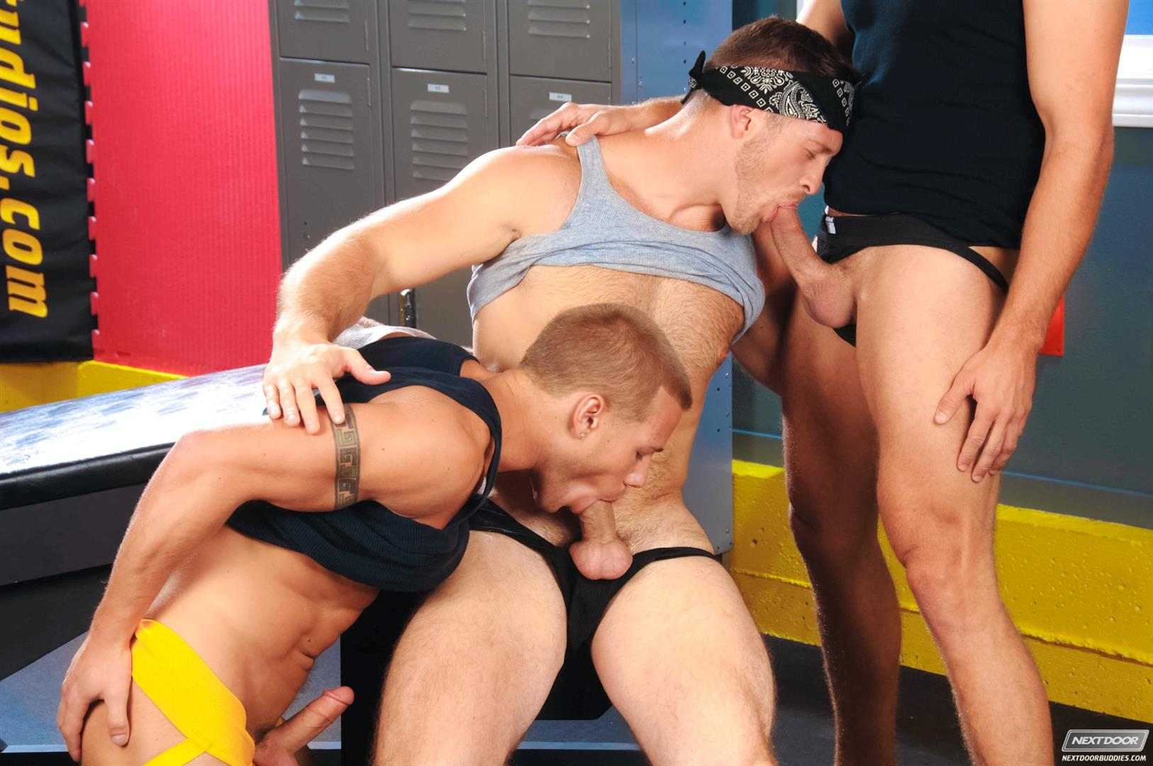 Next-Door-Buddies-Brandon-Lewis-Paul-Wagner-Brody-Wilder-Hung-Jocks-Fucking-In-The-Locker-Room-Amateur-Gay-Porn-04 Muscle Jocks Tag Teaming A Hot Muscle Ass In The Gym Locker Room