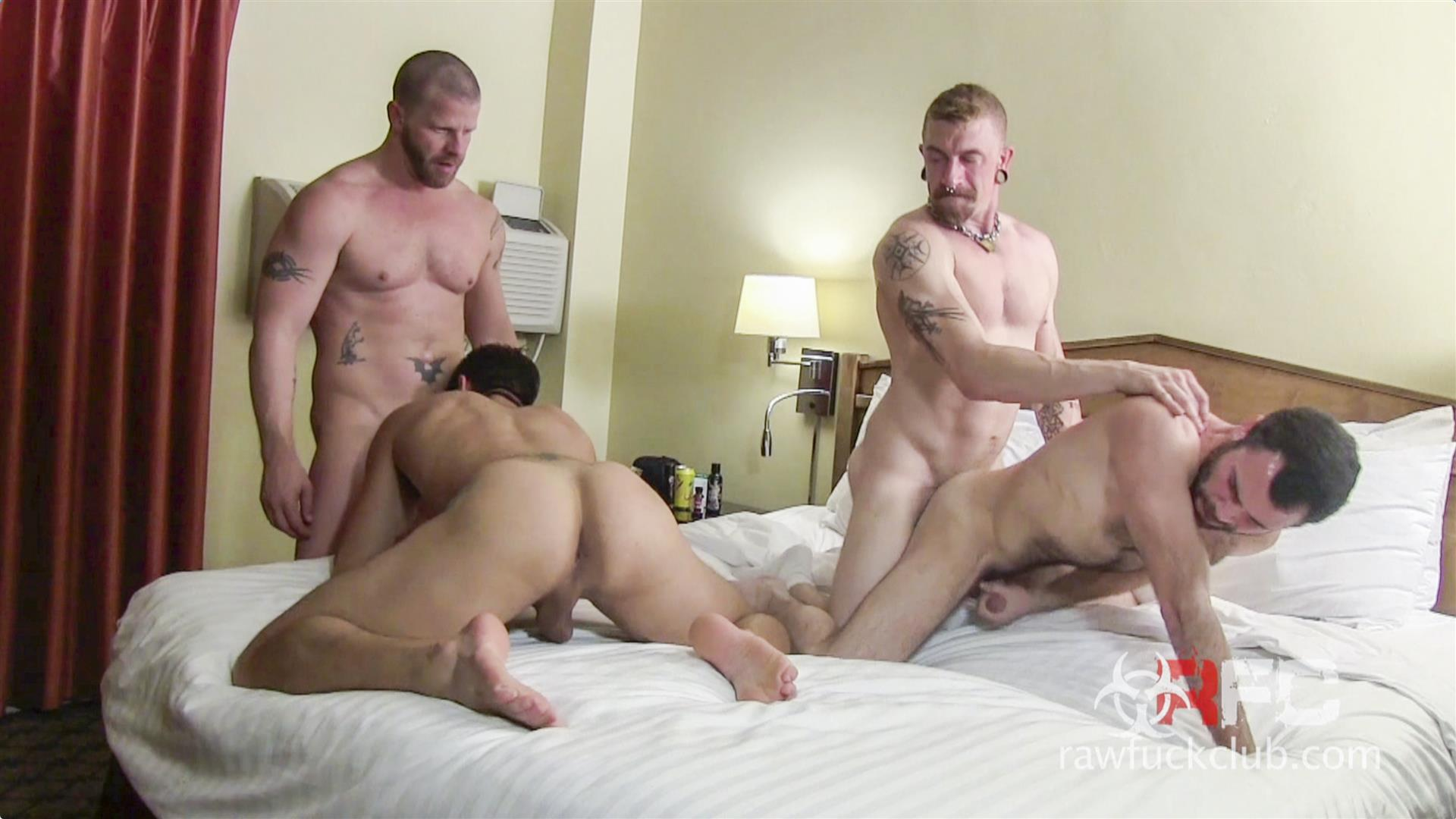 Raw Fuck Club Dylan Saunders and Dusty Williams and Jeff Kendall and Jeremy Stevens BBBH Amateur Gay Porn 01 Big Cock Amateur Hotel Bareback Sex Party
