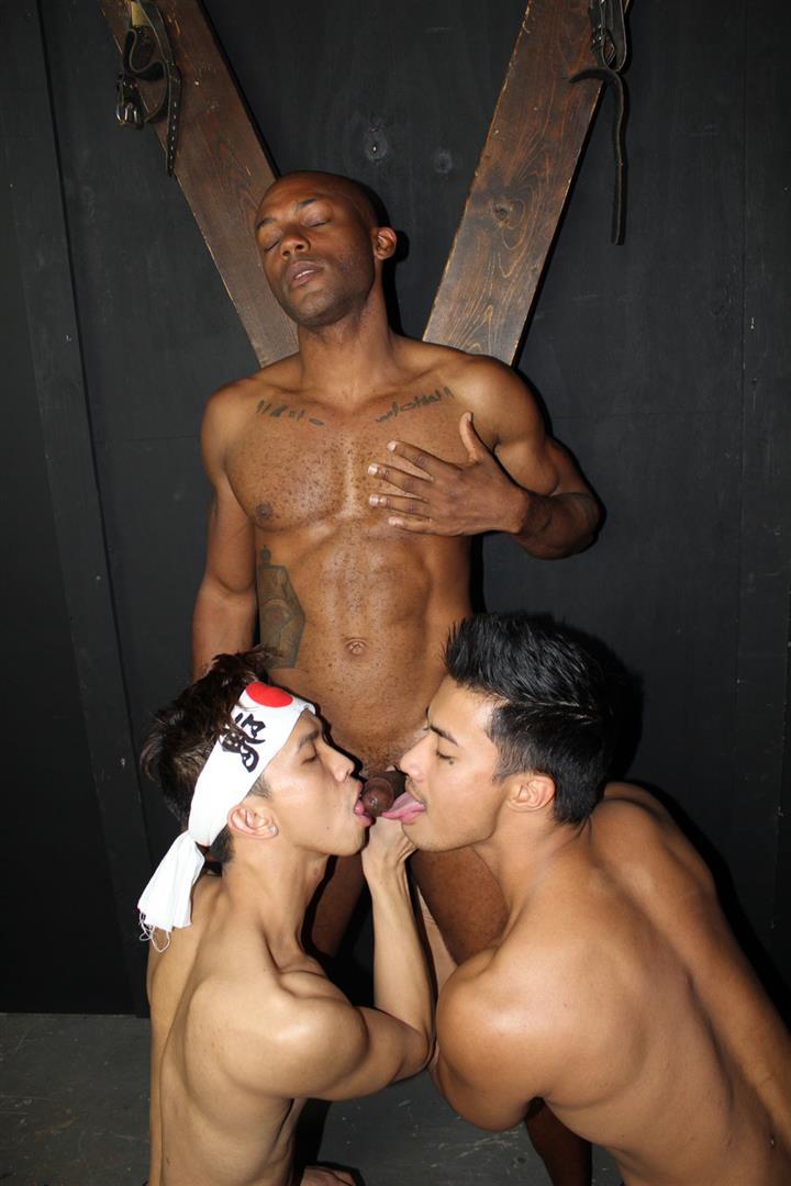 Peter-Fever-Osiris-Blade-and-Levy-Foxx-and-Ken-Ott-Black-Asian-Interracial-Gay-Sex-04 Osiris Blade Eats Two Loads Of Cum From Big Asian Dicks