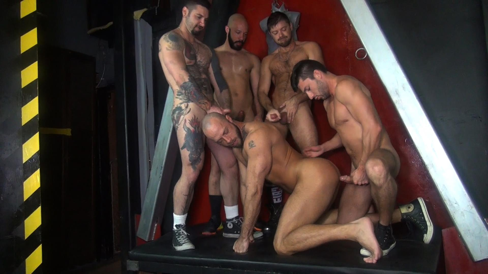 Raw-Fuck-Club-Dylan-Strokes-and-Scott-DeMarco-and-Jack-Andy-and-Jessie-Colter-and-Teddy-Bryce-Bareback-Sex-Video-07 Jessie Colter's First Bareback Gangbang At A Sleazy Bathhouse
