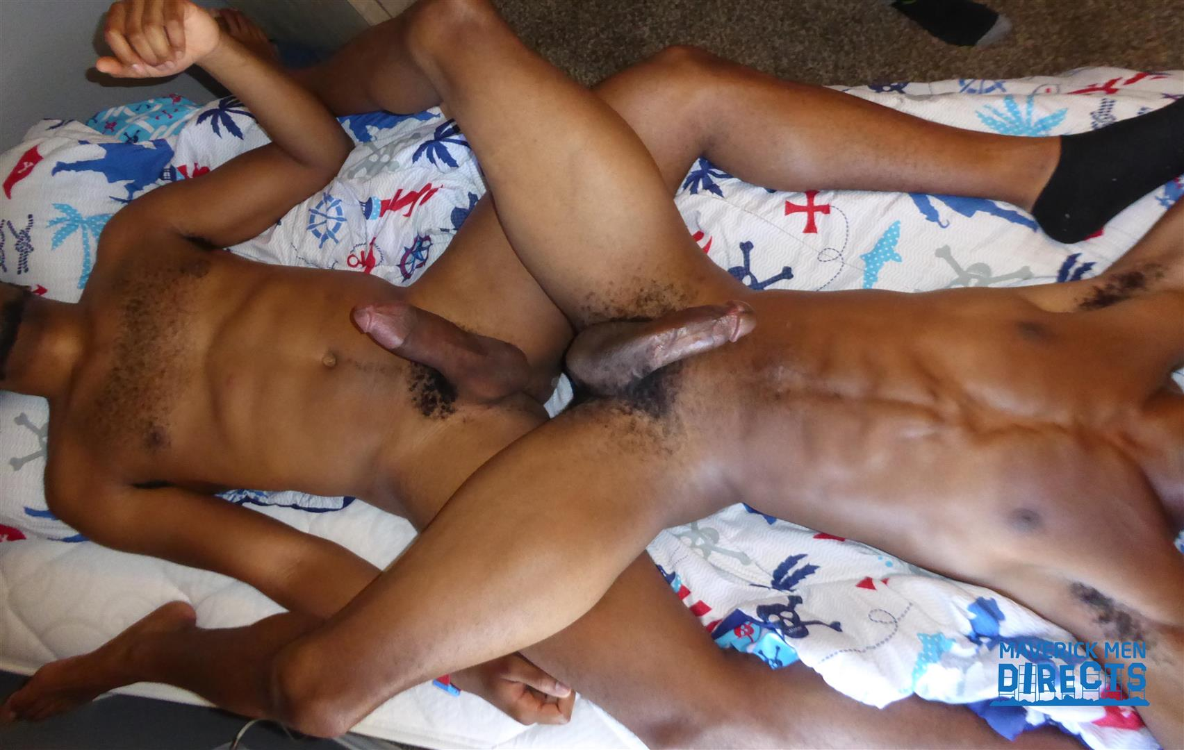 Maverick-Men-Directs-Two-Big-Black-Dicks-Fucking-A-White-Boys-Ass-Bareback-08 Two Big Black Cocks Bareback Assaulting A Jocks White Ass